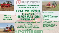 Cultivation & Tillage Information Evening - Wednesday 18th March